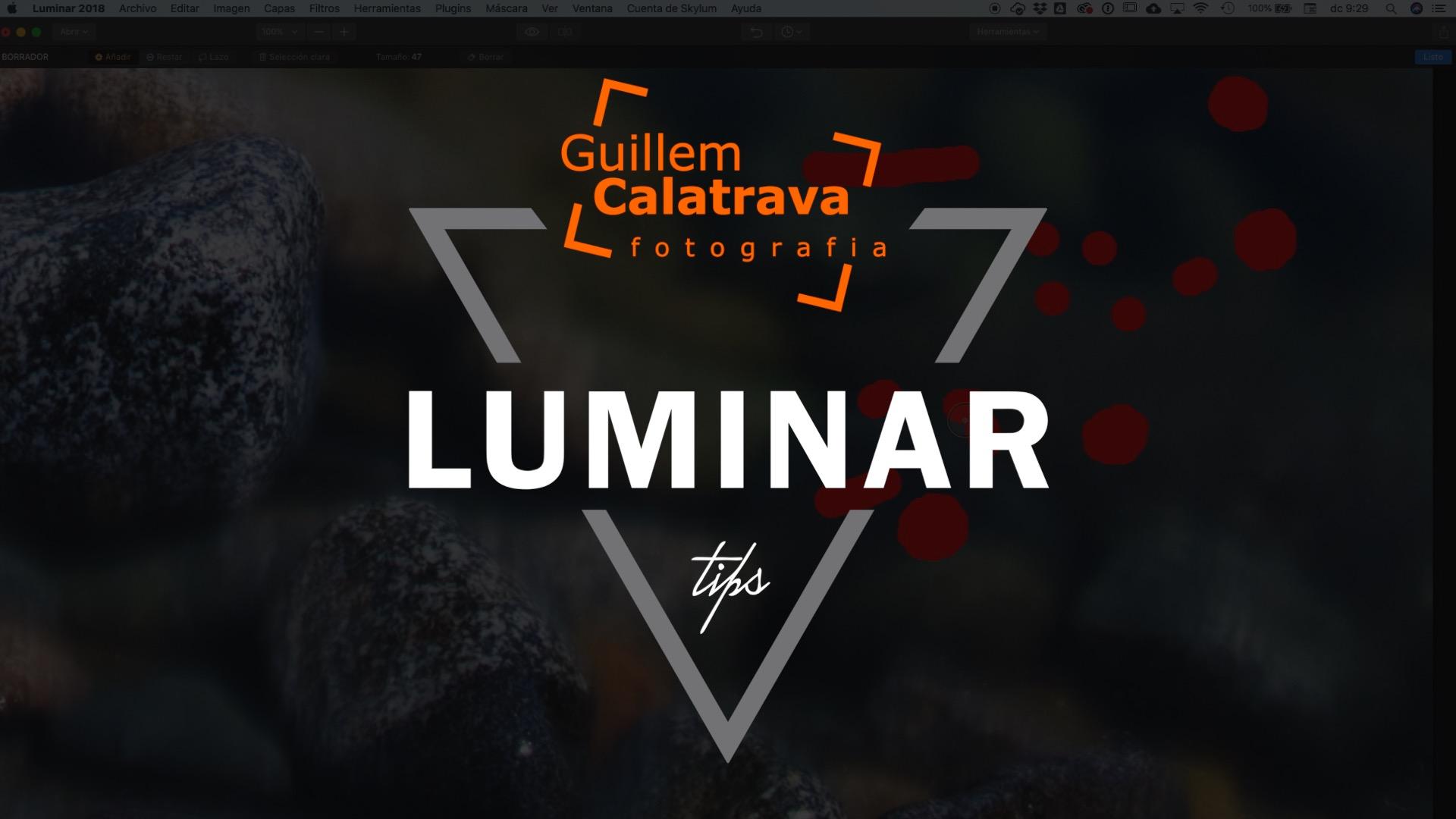 Eliminar manchas de las fotografías con Luminar
