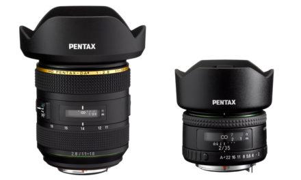 Nuevos objetivos Pentax 11-18mm ƒ/2,8 y 35mm ƒ/2