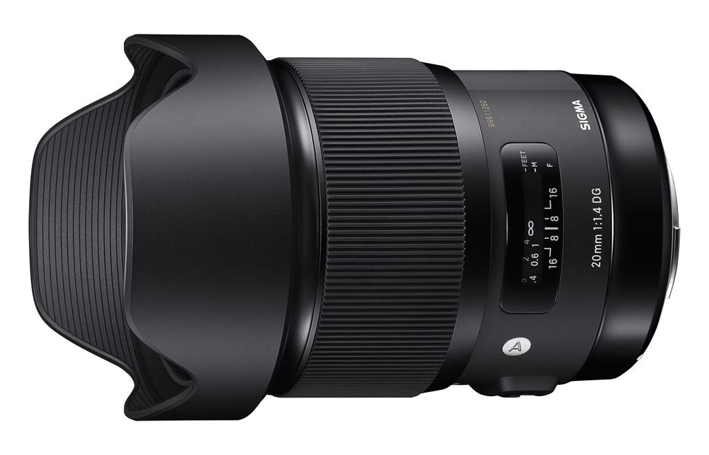 Nuevo objetivo Sigma 20mm f/1,4 DG HSM Art