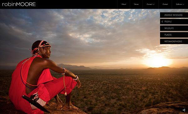 Ejemplo de uno de los nuevos portfolios websites/robinmoore.photoshelter.com