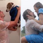 Recrea escenas de películas con un perro