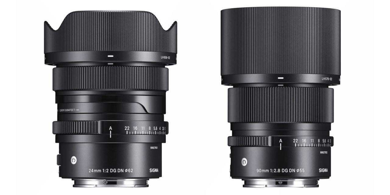 Nuevos objetivos Sigma Contemporary 24mm ƒ/2 y 90mm ƒ/2,8