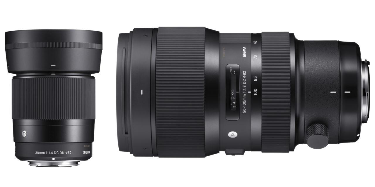 Nuevos objetivos Sigma 30mm f/1,4 Contemporary y Sigma 50-100mm f/1,8 Art