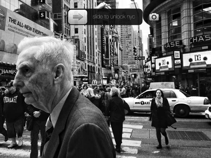 """Slide to unlock NYC"" New York desde el objetivo de un smartphone"