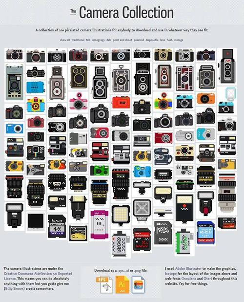 100 iconos de fotografía para descargar