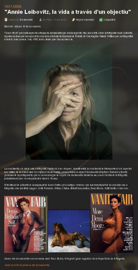 Annie Leibovitz, la vida a través de un objetivo