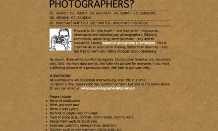 ¿Quién paga a los fotógrafos?
